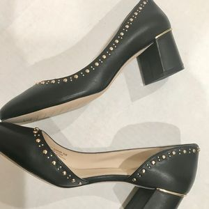 Cole Haan Shoes - Cole Han Studded Black Leather Pumps Size 9.5 NEW